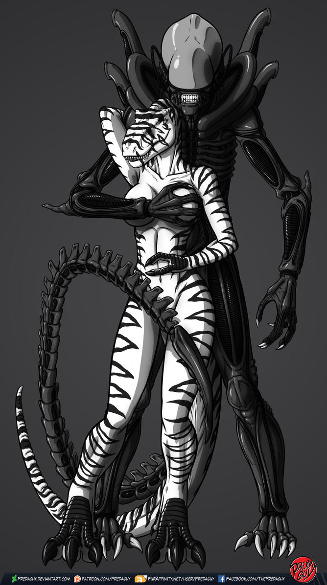 Amora And Her Xeno by VipertheWyvern