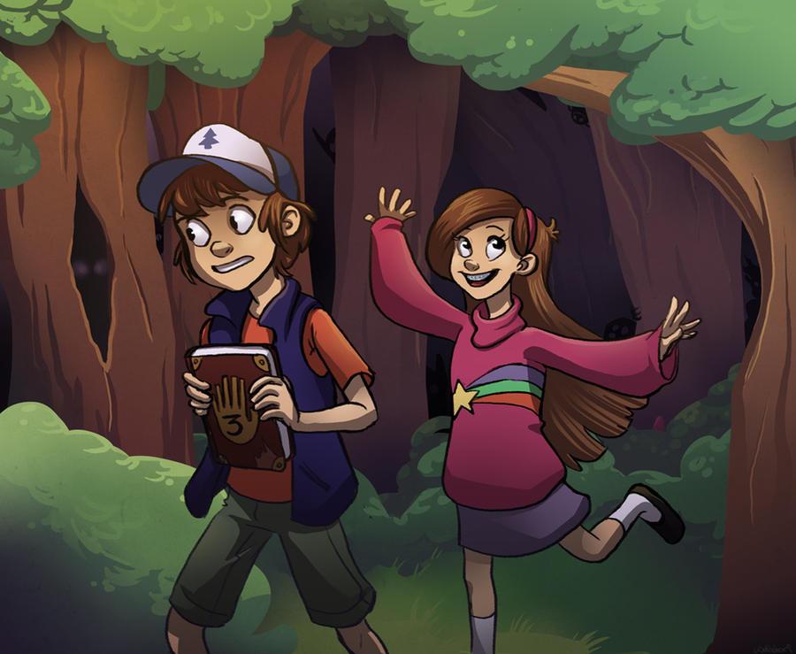 Meet you down at Gravity Falls by wallabri