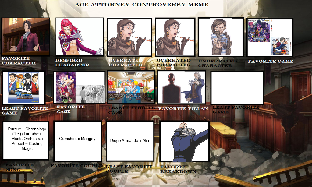 Ace Attorney Controversy Meme By Stickbrush On Deviantart