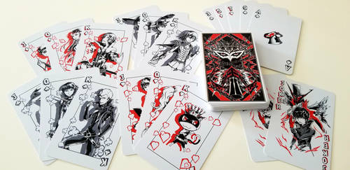 Persona 5 Playing Cards by FlamesSoul