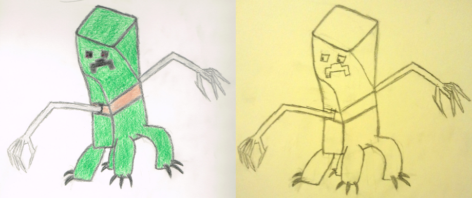 how to make a creeper drawing