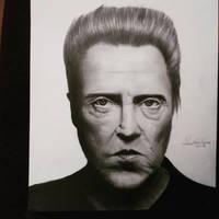 Drawing Christopher Walken by cdudley25