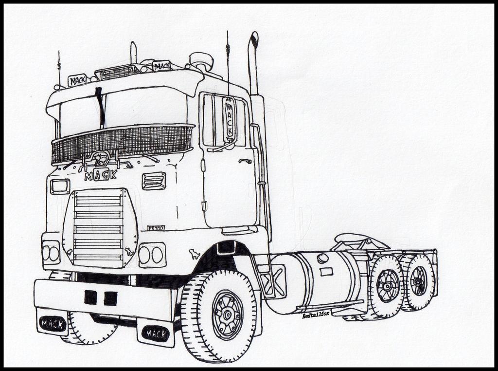 mack truck  how to draw a mack truck