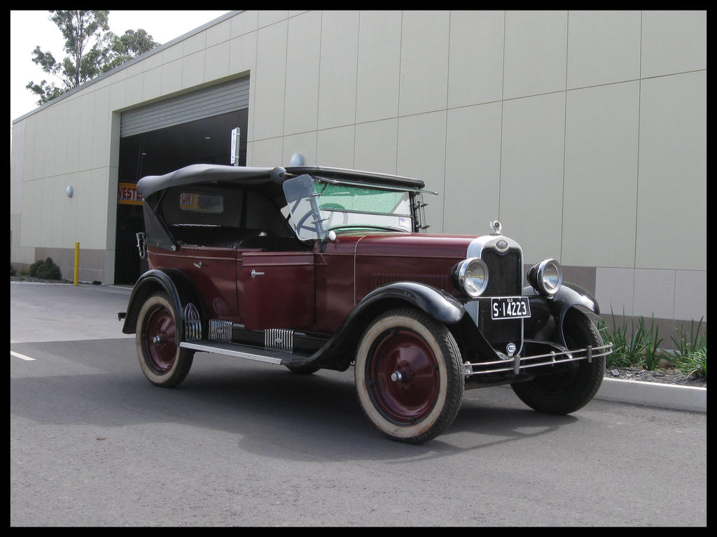 1928 chevy 4 door by redtailfox on deviantart for 1928 chevy 2 door coupe
