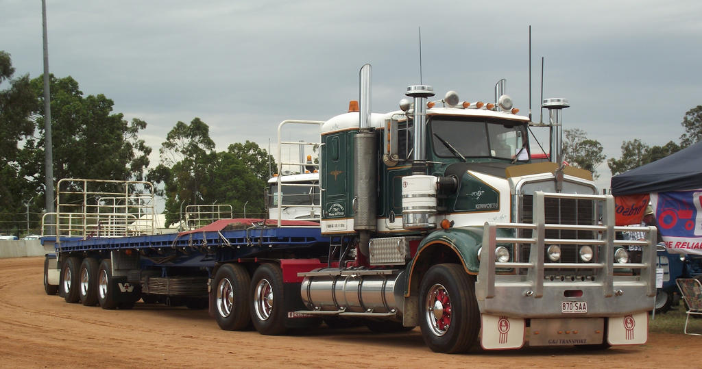 Kenworth SAR With Triple Road Train By RedtailFox On