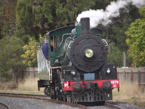 BB18 1/4 No.1079 light engine at Laidley 2