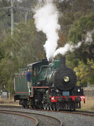 BB18 1/4 No.1079 light engine and blowing off