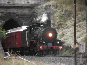 BB18 1/4 No.1079 Emerging from tunnel