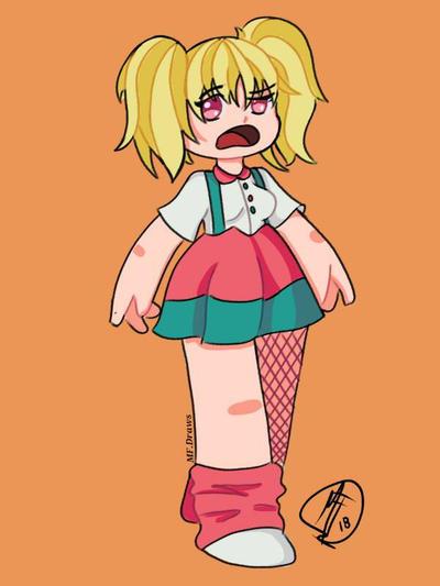 Chubby girl  by Ferprieto16