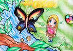 Child and Butterfly by FoxyKitsuChan