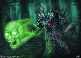 World of Warcraft Fan Art - Death Coil by ForrestImel