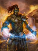 Orc Fella with Blue Magic by ForrestImel