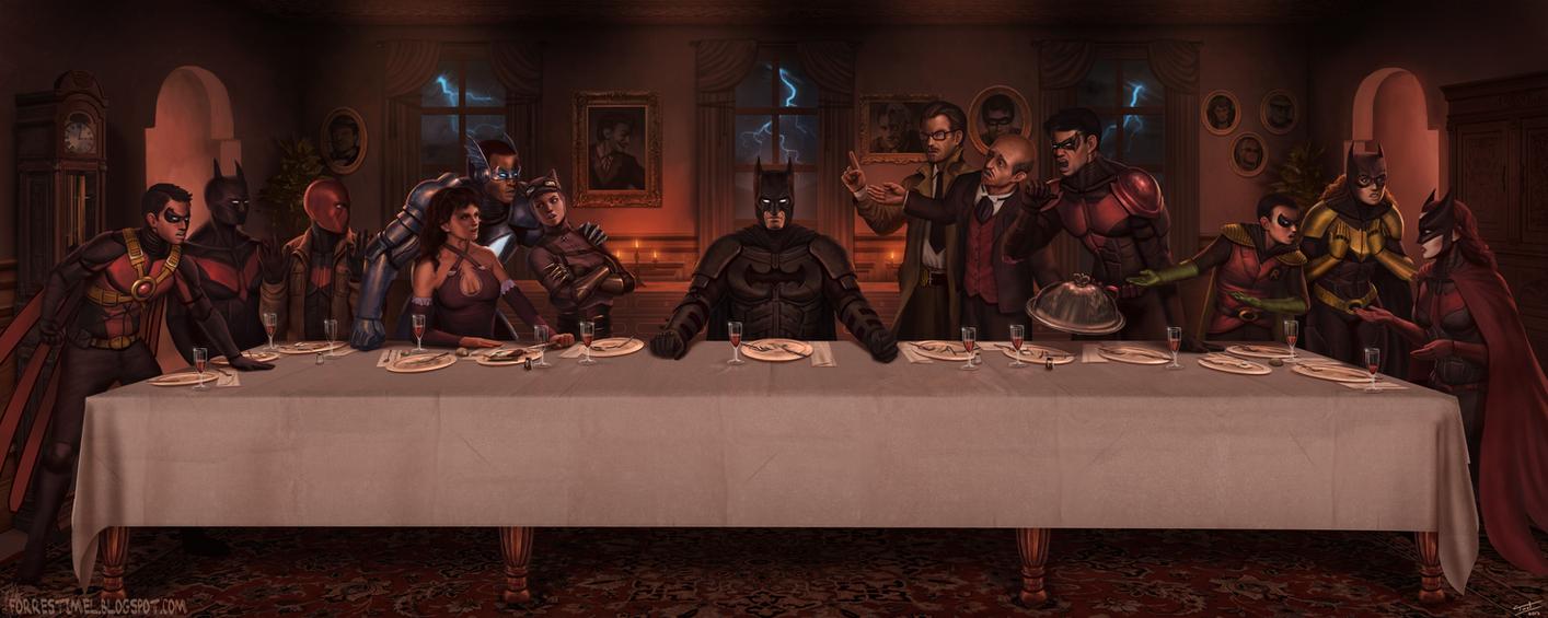 The last supper at wayne manor by forrestimel on deviantart - Last supper 4k ...
