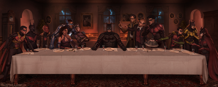 The Last Supper at Wayne Manor by ForrestImel