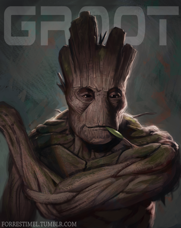 I am Groot by ForrestImel on DeviantArt Raccoon Painting