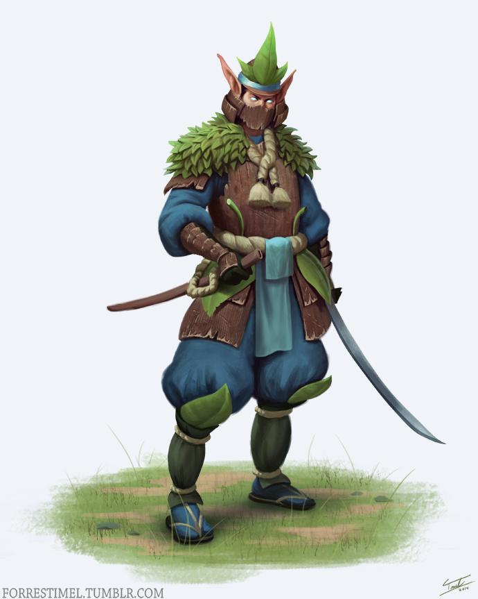 Elf Swordsman by ForrestImel