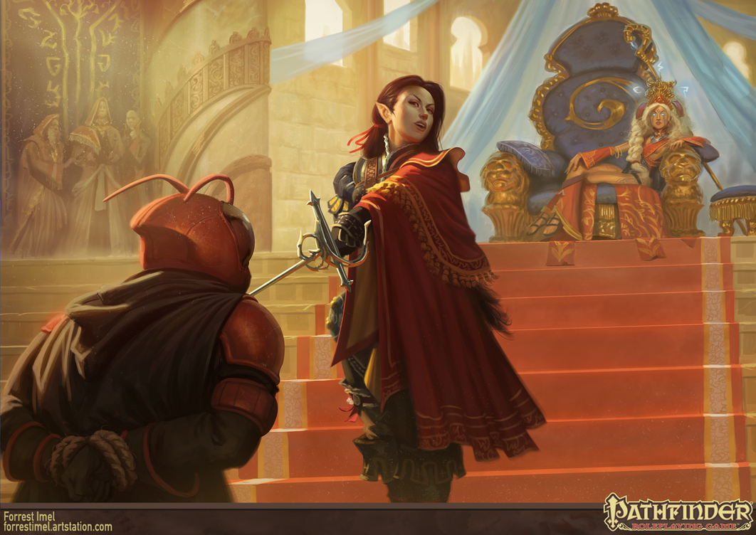 Pathfinder - Heroes of the Highcourt Illustration by ForrestImel