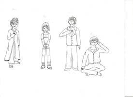 Akira, Jun, Dimitri and Mikami by Killaman16