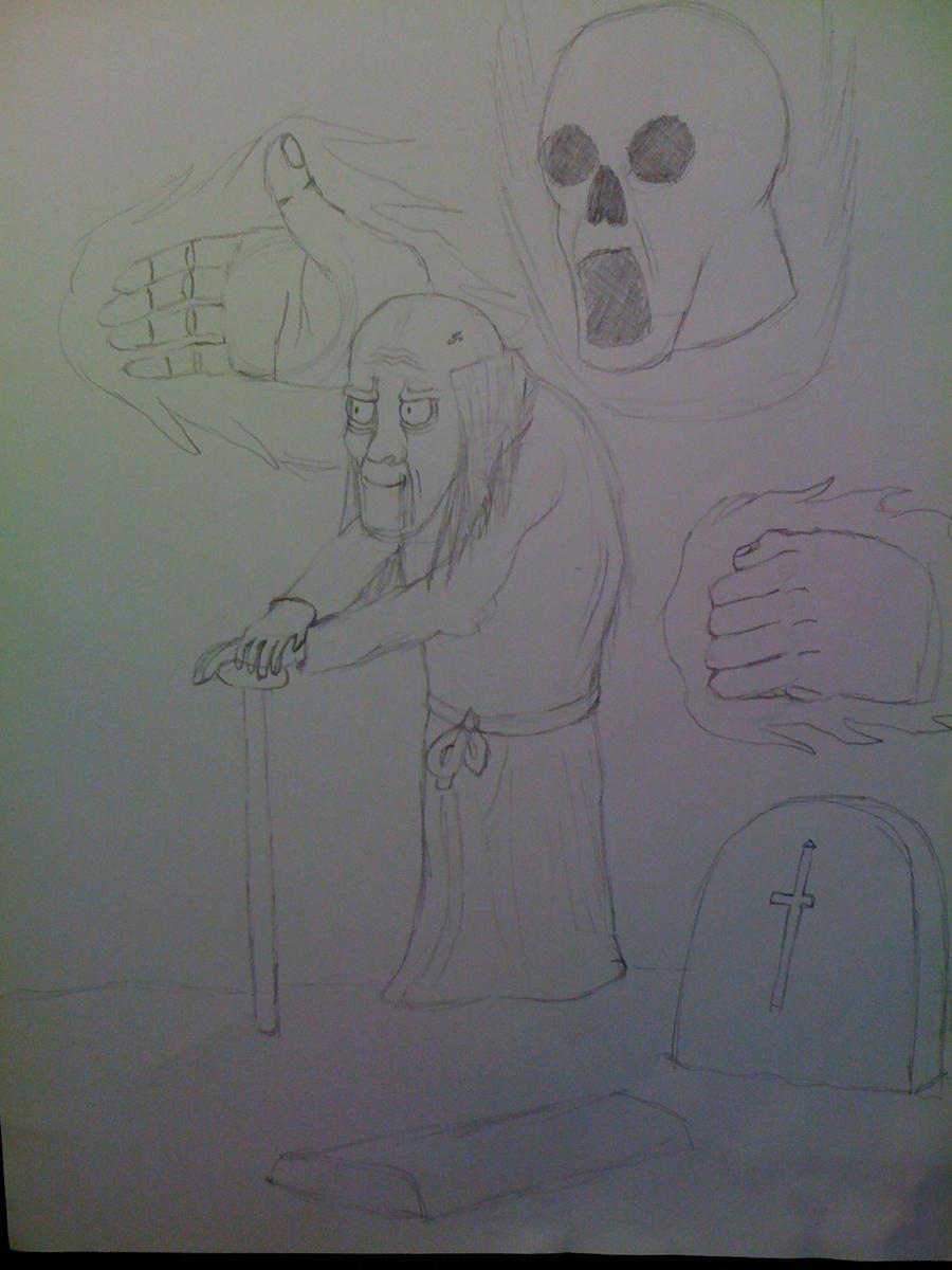 Killaman Anime/Manga Drawing Works - [Gallery + Feedback] - Page 3 Necromancer_mephisto_by_killaman16-d5e1z4o