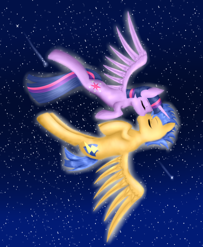 Flash Sentry and Twilight Sparkle by Tharkan