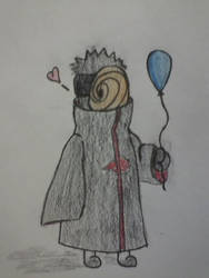 Tobi has balloon by HawkWalker