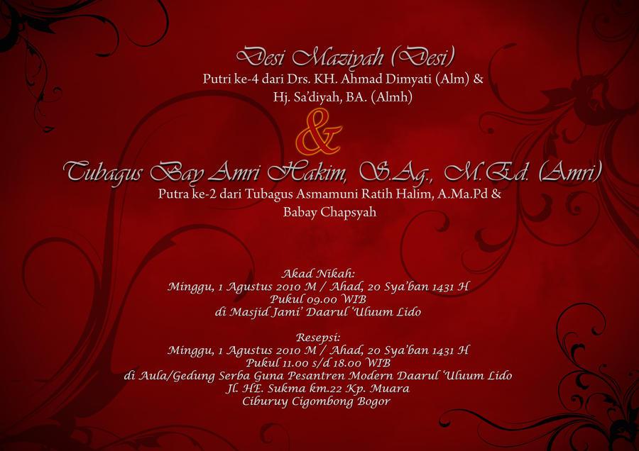 Undangan Pernikahan Dhewa