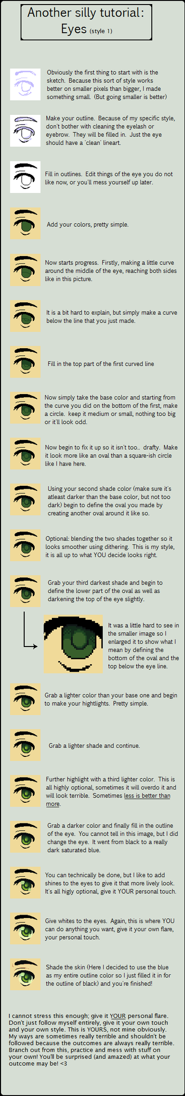 Eye style 1 - tutorial by grangerpixel