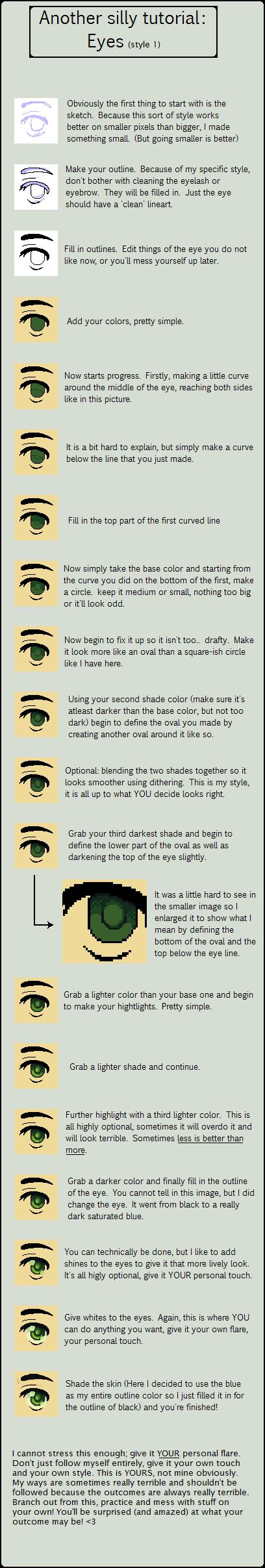 Eye style 1 - tutorial by grangerpixel