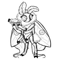Ecliplsa the Luna Moth Sketch .:C20:.