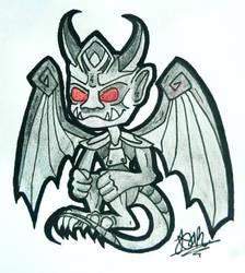 Wizard101 Decaversary Gargoyle Pet Fanart