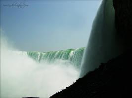 Bottom of Niagara Falls by Ivienn