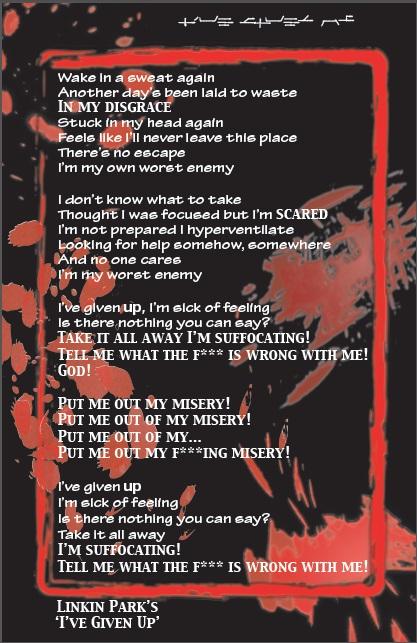 Lyrics of given up linkin park