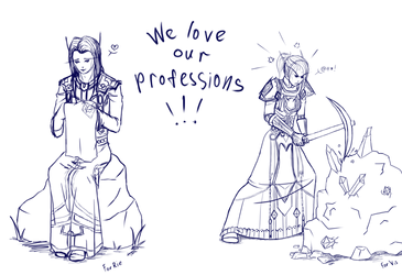 We love our professions! by Gothic-Diva