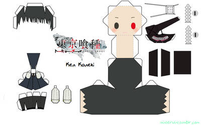 Template - Tokyo Ghoul - Kaneki by Verloria