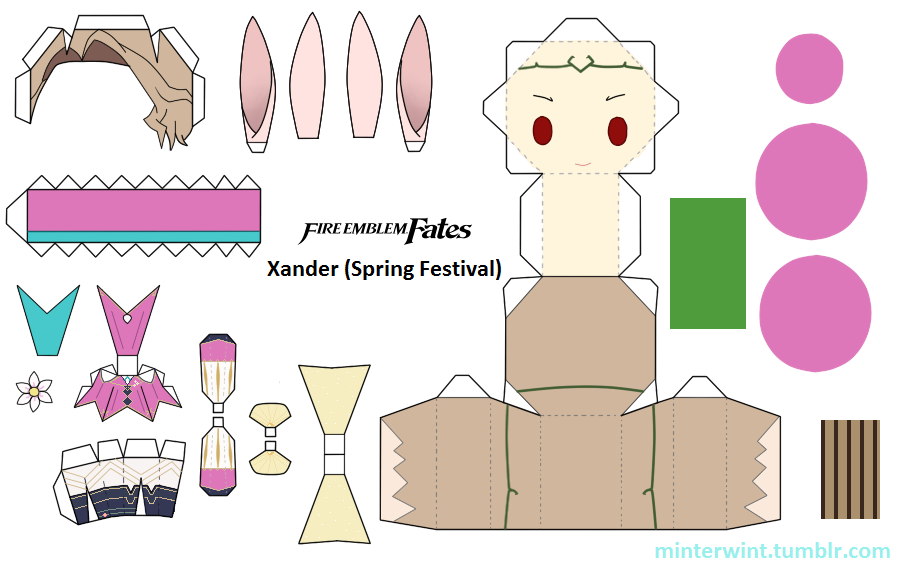 Template - Fire Emblem - Xander (Spring Festival) by Verloria