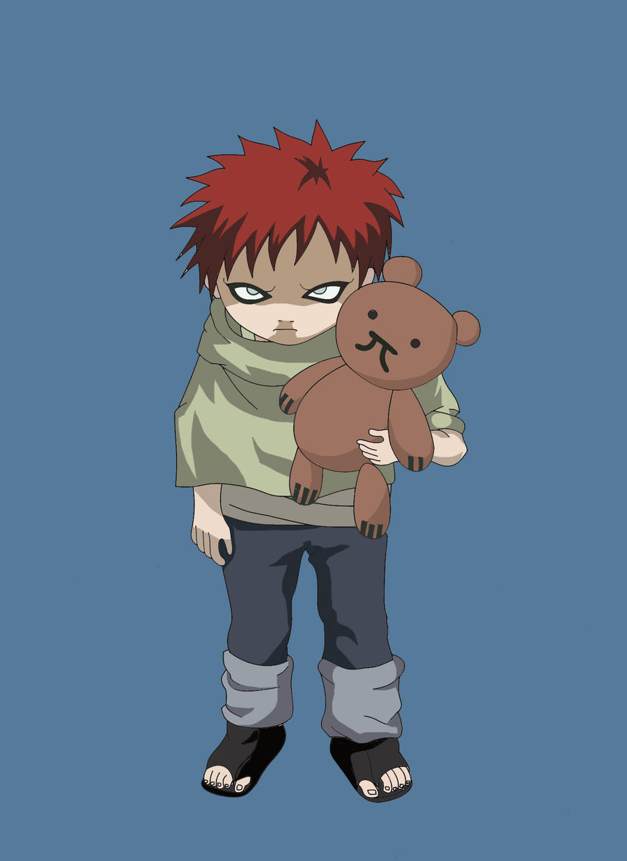 Kid Gaara Colored by annareru on DeviantArt Gaara And Naruto Kids