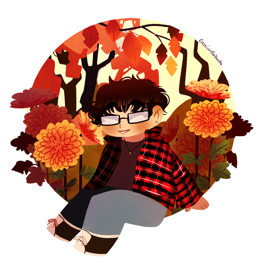 Self potrait- Autumn by Caz-Nia1994