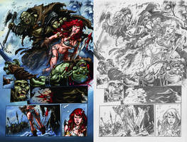 Red Sonja annual3 page 4 by Adrianohq