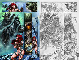 Red Sonja page5 by Adrianohq