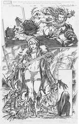 Red Sonja pg20 by Adrianohq