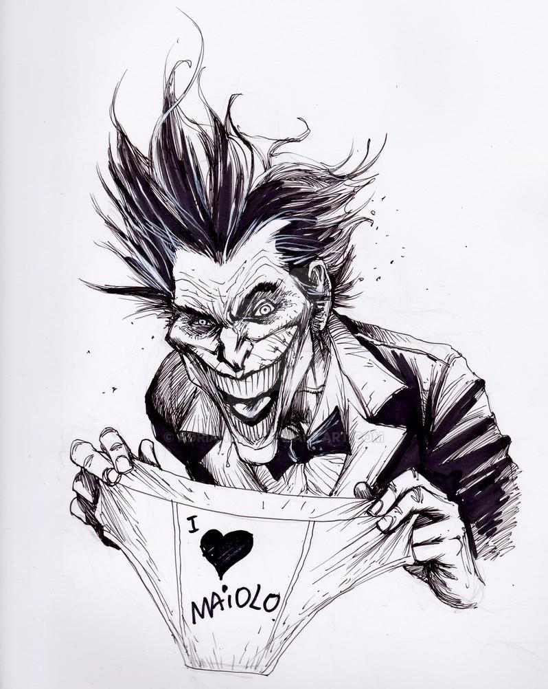 Joker Sketch By Adrianohq On DeviantArt