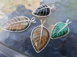Leaf pendants by jessy25522