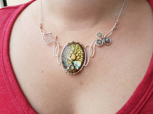 Trees of Valinor necklace