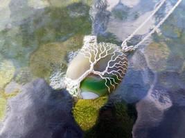 Agate necklace by jessy25522