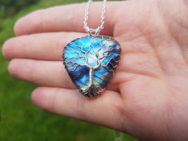 Labradorite necklace by jessy25522