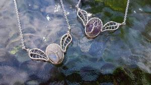 Gemstone necklaces by jessy25522