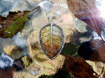 Leaf necklace by jessy25522