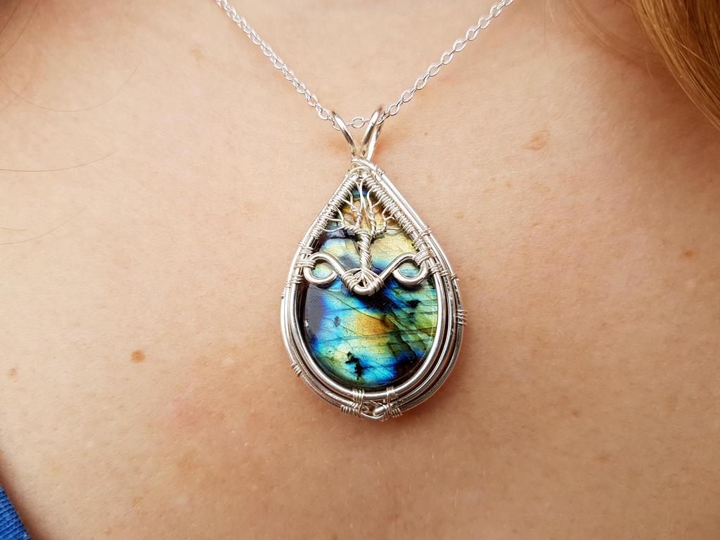 Labradorite pendant by jessy25522