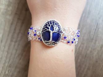 Lapis lazuli bracelet by jessy25522