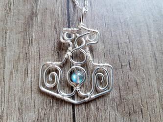 Mjolnir (Thor's hammer) pendant. by jessy25522